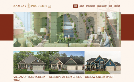 BizzyWeb launches new site: Ramsay Properties