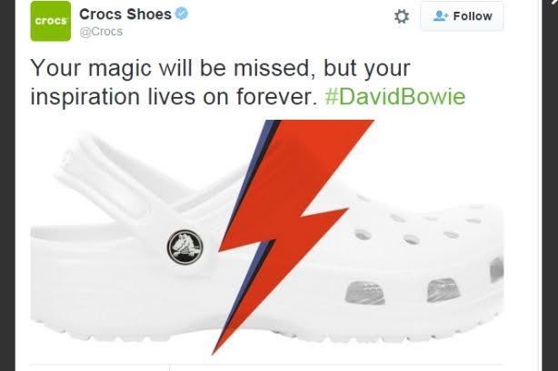 crocs bowie tribute - 10 social media fails