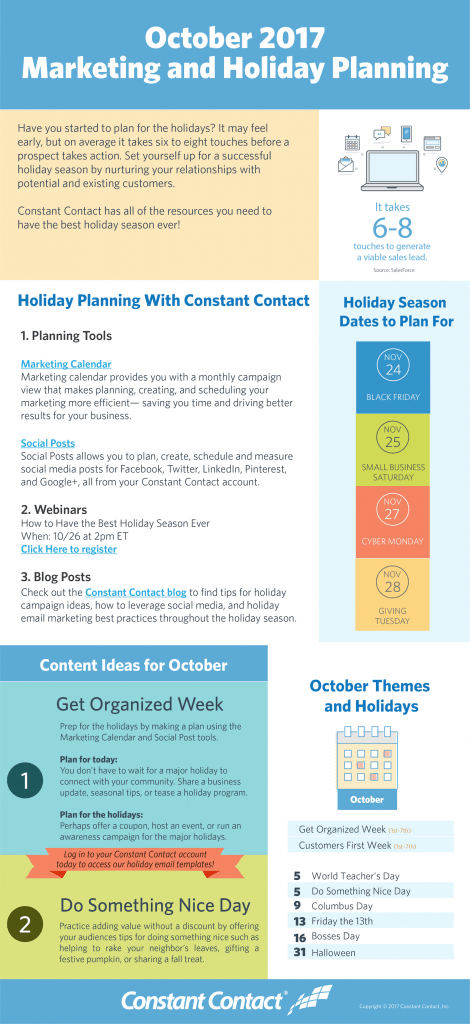 2017 october holiday planning infographic